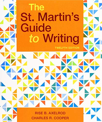 St. Martin's Guide to Writing  12th 9781319104375 Front Cover