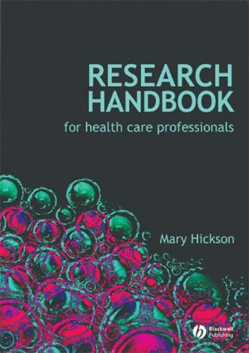 Research Handbook for Health Care Professionals   2008 9781405177375 Front Cover