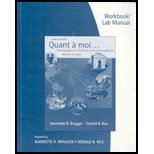 Workbook and Lab Manual for Quant a Moi...  4th 2010 edition cover