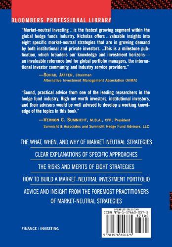 Market Neutral Investing Long / Short Hedge Fund Strategies  2000 9781576600375 Front Cover