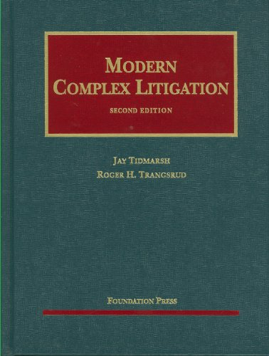 Modern Complex Litigation  2nd 2010 (Revised) edition cover