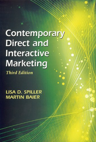 Contemporary Direct and Interactive Marketing  3rd 2012 edition cover