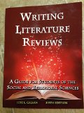 Writing Literature Reviews: A Guide for Students of the Social and Behavioral Sciences 1st 2014 edition cover