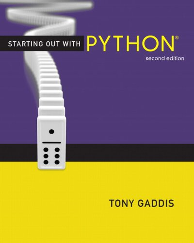 Starting Out with Python  2nd 2012 (Revised) edition cover
