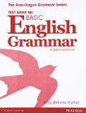 BASIC ENGLISH GRAMMAR-TEST BANK         N/A 9780133438376 Front Cover