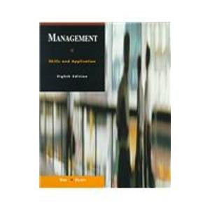 Management Skills and Application 8th 1997 9780256227376 Front Cover