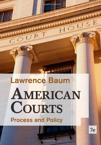 American Courts Process and Policy 7th 2013 edition cover