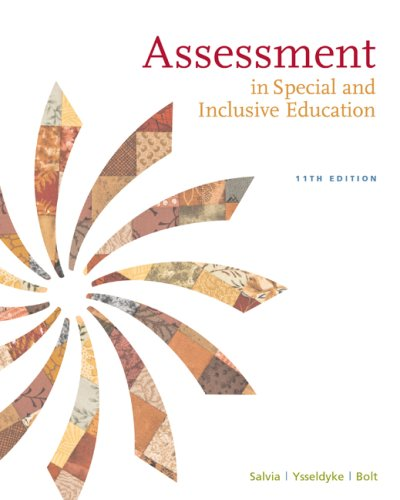 Assessment In Special and Inclusive Education 11th 2010 edition cover