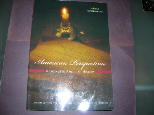 AMERICAN PERSPECTIVES,VOL.1 >C N/A edition cover