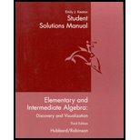Elementary and Intermediate Algebra  2nd 2002 (Student Manual, Study Guide, etc.) 9780618162376 Front Cover
