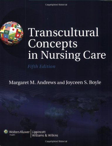 Transcultural Concepts in Nursing Care  5th 2008 (Revised) 9780781790376 Front Cover