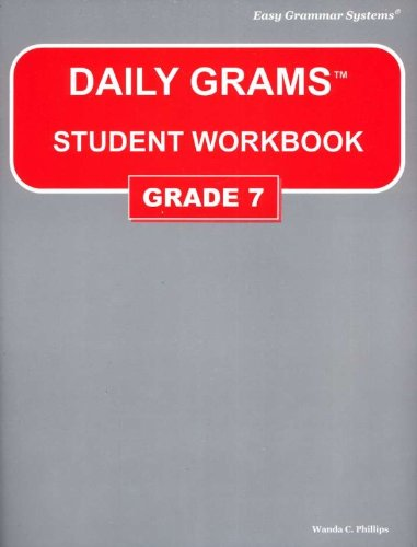Daily Grams Workbook Grade 7  N/A edition cover