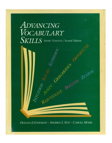 Advancing Vocabulary Skills, Short Version 2nd 1997 9780944210376 Front Cover