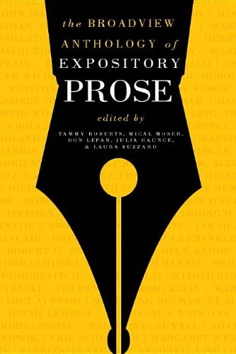 Broadview Anthology of Expository Prose  2nd 2011 edition cover
