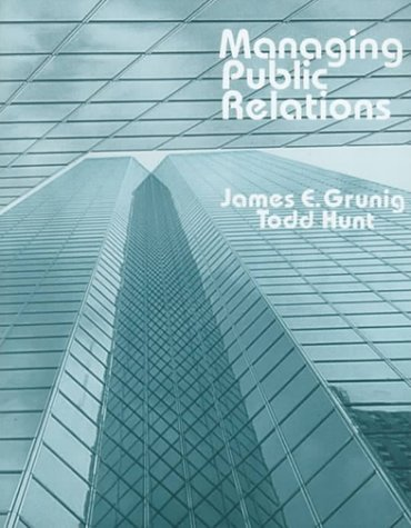 Managing Public Relations   1984 9780030583377 Front Cover