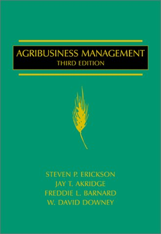 Agribusiness Management  3rd 2002 edition cover