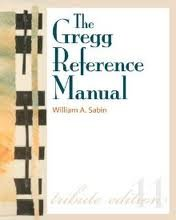 GREGG REFERENCE MANUAL N/A edition cover