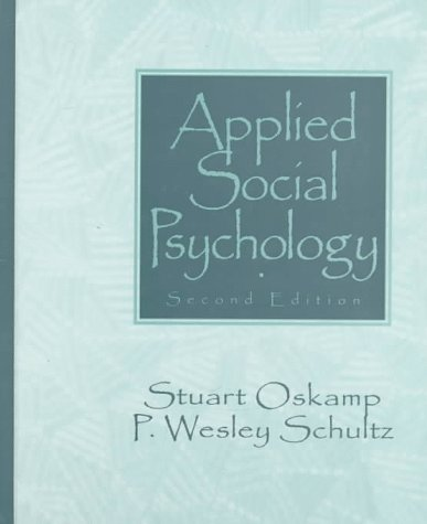 Applied Social Psychology  2nd 1998 edition cover