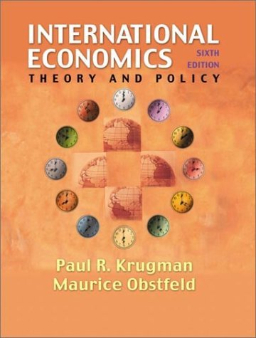 International Economics Theory and Policy 6th 2003 edition cover