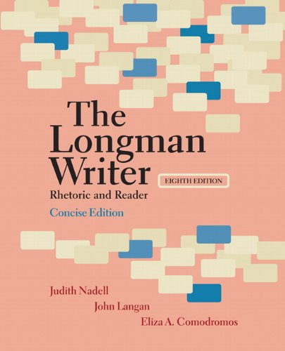 Longman Writer Rhetoric and Reader 8th 2011 edition cover
