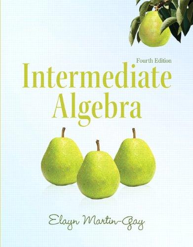 Intermediate Algebra  4th 2012 edition cover