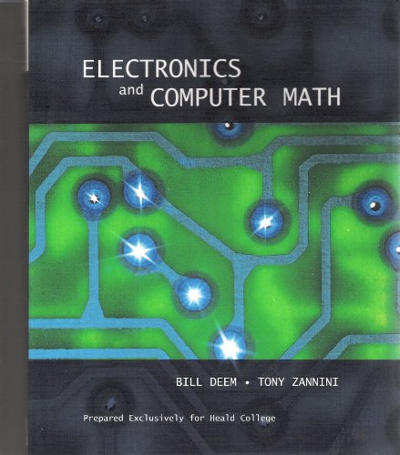 ELECTRONICS+COMPUTER MATH-W/CD N/A 9780536742377 Front Cover