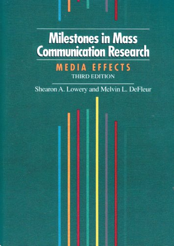Milestones in Mass Communication Research Media Effects 3rd 1995 edition cover