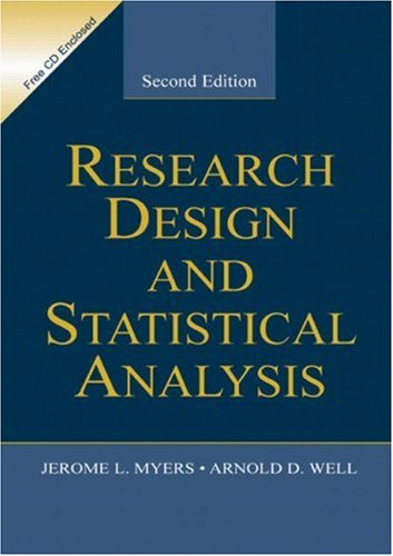 Research Design and Statistical Analysis  2nd 1995 (Revised) edition cover