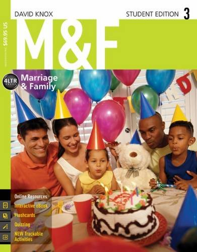 M&F (Marriage & Family) w/ CourseMate, 1 term (6 months) Printed Access Card 3rd 2015 edition cover