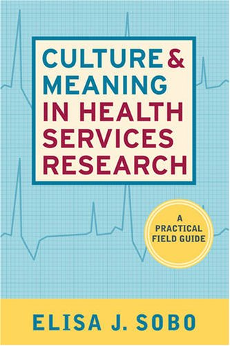 Culture and Meaning in Health Services Research An Applied Approach  2009 edition cover