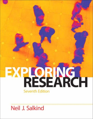 Exploring Research  7th 2009 edition cover
