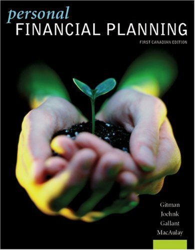 PERSONAL FINANCIAL PLANNING 1st edition cover