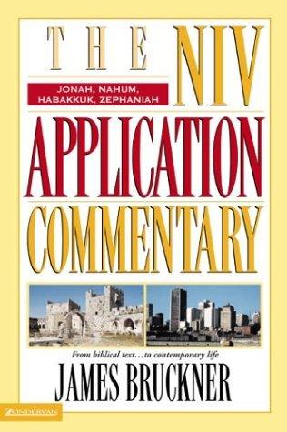Niv Application Commentary Jonah, Nahum, Habakkuk, Zephaniah   2004 edition cover