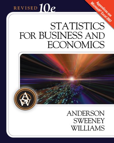 Statistics for Business and Economics  10th 2009 (Revised) edition cover