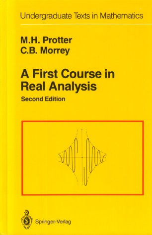 First Course in Real Analysis  2nd 1991 (Revised) 9780387974378 Front Cover