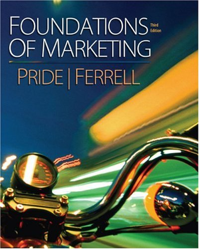 Foundations of Marketing  3rd 2009 edition cover