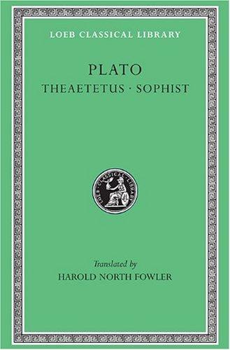 Theaetetus - Sophist   1921 edition cover
