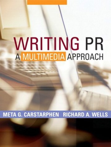 Writing PR A Multimedia Approach  2004 edition cover
