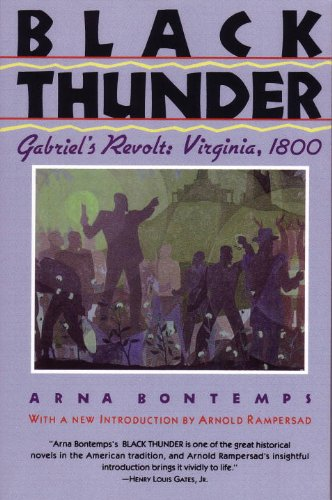 Black Thunder Gabriel's Revolt: Virginia 1800  1992 edition cover