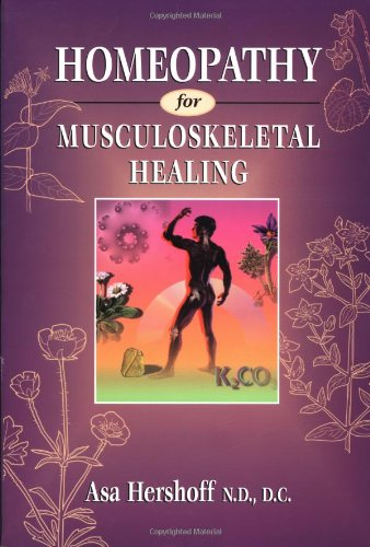 Homeopathy for Musculoskeletal Healing   1996 edition cover