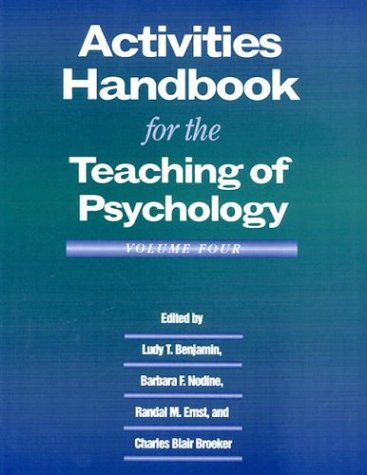 Activities Handbook for the Teaching of Psychology   1999 edition cover