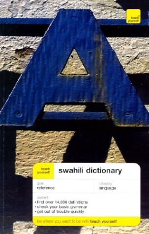 Teach Yourself Swahili Dictionary  2nd 2003 edition cover