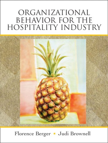 Organizational Behavior for the Hospitality Industry   2009 edition cover