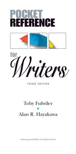 Pocket Reference for Writers  3rd 2008 edition cover