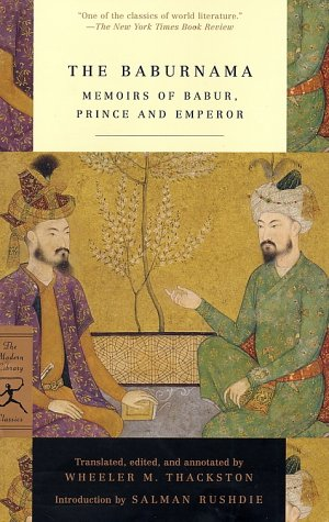 Baburnama Memoirs of Babur, Prince and Emperor  2002 edition cover
