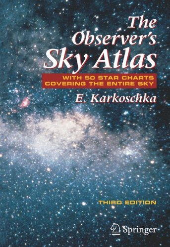 Observer's Sky Atlas With 50 Star Charts Covering the Entire Sky 3rd 2007 edition cover