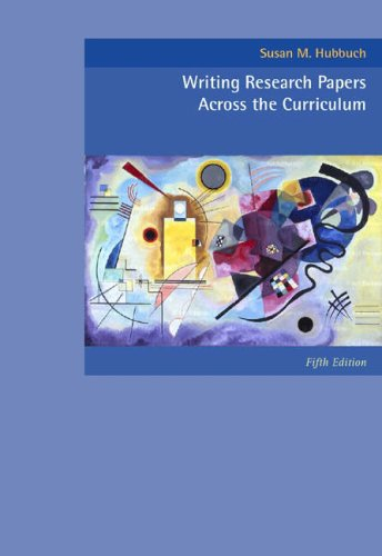Writing Research Papers Across the Curriculum  5th 2005 (Revised) edition cover
