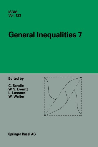 General Inequalities 7 7th International Conference at Oberwolfach, November 13-18, 1995  1997 edition cover