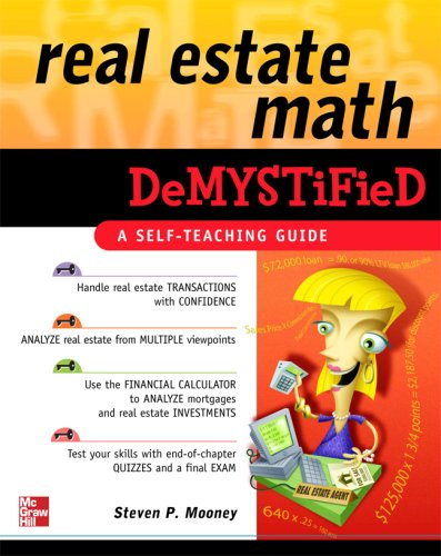 Real Estate Math Demystified   2007 edition cover
