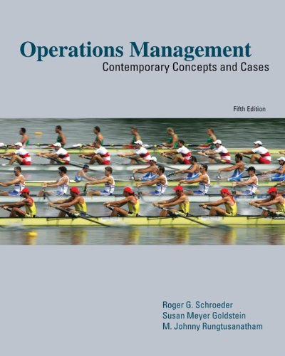 Operations Management Contemporary Concepts and Cases 5th 2011 edition cover